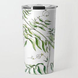 Jasmine Flower Illustration Travel Mug