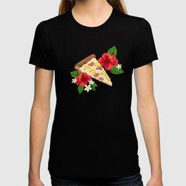 Hawaiian Pizza in a Hawaiian Print T-shirt