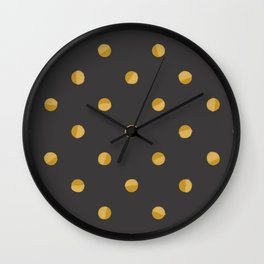Gold Dots Wall Clock