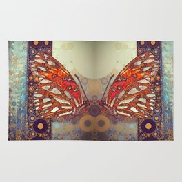 Golden Butterfly Rug