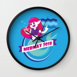 Cute Mermay Mermaid Art Challange Wall Clock