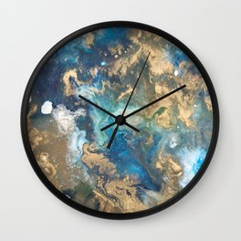 Color Commentary #10: Teal & Gold [Kat Meredith] Wall Clock