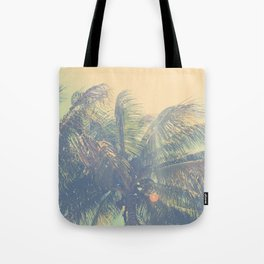 coconut palm trees  Tote Bag