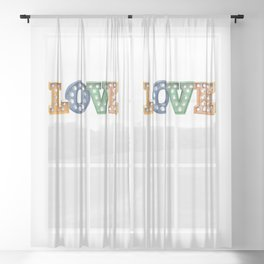L O V E – Bulb Sheer Curtain