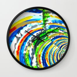 Kaleidoscope Graffiti Stripes  Wall Clock