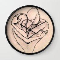 return Wall Clocks featuring The Return by Kasey Randall