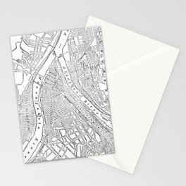 Vintage Map of Pittsburgh (1885)  Stationery Cards