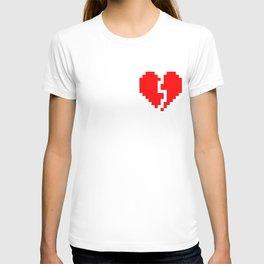 broken pixel heart T-shirt