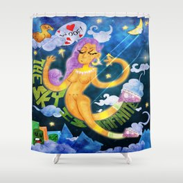 The Sky is Infinite Shower Curtain