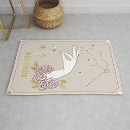 Aquarius Zodiac Sign Rug