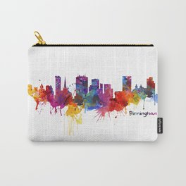 Birmingham Watercolor Skyline Carry-All Pouch