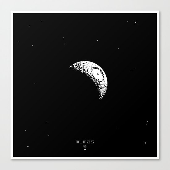 MIMAS - The Real Death Star Canvas Print