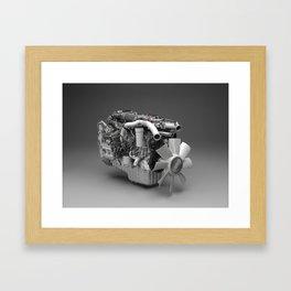 3D Engine Model Framed Art Print