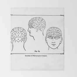 Phrenology Throw Blanket
