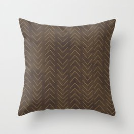 ethnic, tribal mudcloth pattern Throw Pillow