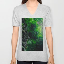 Rocks and Ferns Unisex V-Neck