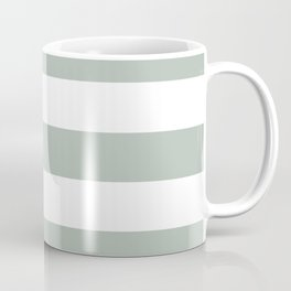 Ash gray - solid color - white stripes pattern Coffee Mug