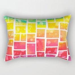 Rainbow squares Rectangular Pillow