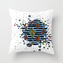Australian Native Florals Graphic Splotch Throw Pillow