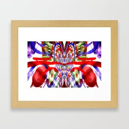 Color and lines in space Framed Art Print