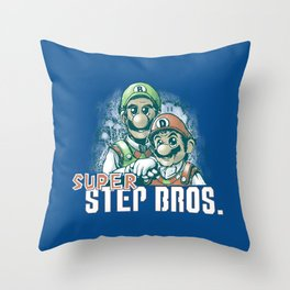 Super Step Bros. Throw Pillow