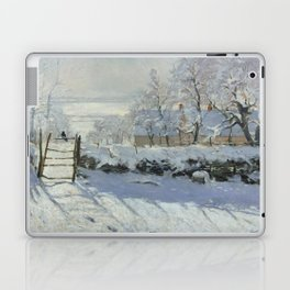 Monet, The Magpie (La Pie) (Die Elster) 1868-1869 Laptop & iPad Skin