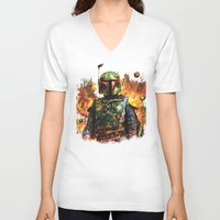 boba fett V-neck T-shirts featuring Boba Fett by ururuty