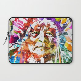 Native American Grunge Watercolor Laptop Sleeve