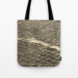 Vintage Map of Rockford Illinois (1880) Tote Bag