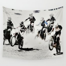 The Race is On  - Motocross Racers Wall Tapestry