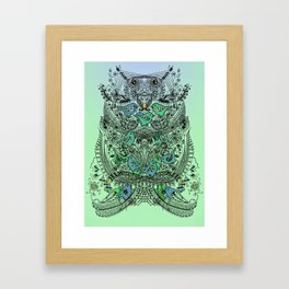 Little Birds and big brother Owl Framed Art Print