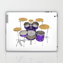 Purple Drum Kit Laptop & iPad Skin