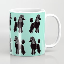 Black Standard Poodles with Mint Coffee Mug
