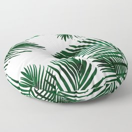 Tropical Palm Leaf Floor Pillow