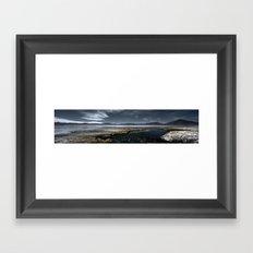Red lagoon Framed Art Print