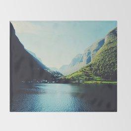 Mountains XII Throw Blanket