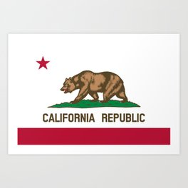 California Flag - State of California Art Print