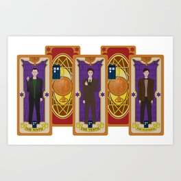 Card Collectors - Time Lords Art Print