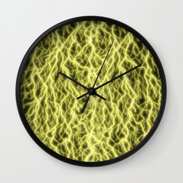 Golden Storm Wall Clock