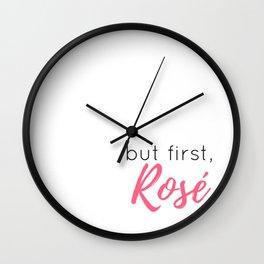 But First, Rosé Wall Clock