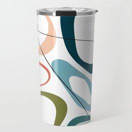 Mid Century Modern Pebbles Travel Mug