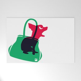 Angry animals: chihuahua - little green bag Welcome Mat