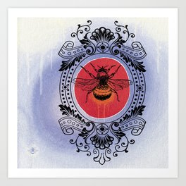Bumble Bee Sunrise Art Print
