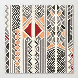 Tribal ethnic geometric pattern 034 Canvas Print