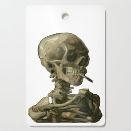 Van Gogh, Head of Skeleton Artwork Skull Reproduction, Posters, Tshirts, Prints, Bags, Men, Women, K Cutting Board