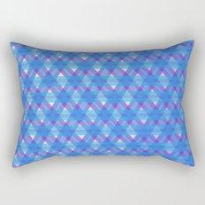 Woven Blue Rectangular Pillow