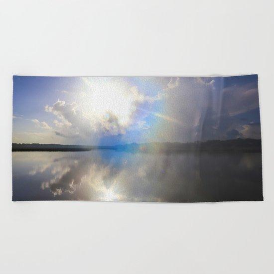 Power of Light Beach Towel