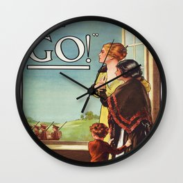 """Vintage poster - Women of Britain say """"Go!"""" Wall Clock"""