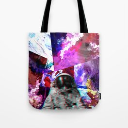 Retro Space Man Two Tote Bag