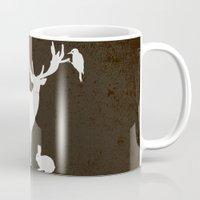 hunter Mugs featuring Hunter by Julia Brnv